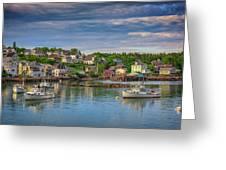 Stonington Harbor Greeting Card
