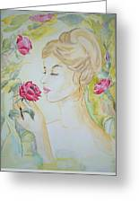 Stop And Smell The Roses Greeting Card