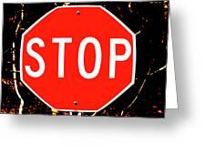Stop Greeting Card