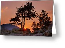 Stop Right Here - Rocky Mountain Np - Sunrise Greeting Card