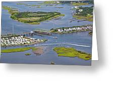 Stopping Traffic Topsail Island Greeting Card