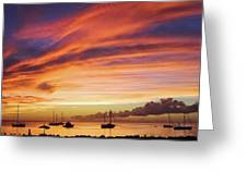 Store Bay, Tobago At Sunset #view Greeting Card