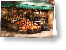 Store - Hoboken Nj - The Fruit Market Greeting Card