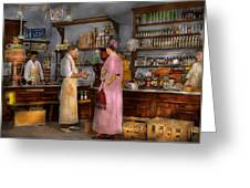 Store - In A General Store 1917 Greeting Card