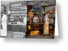 Store - In A General Store 1917 Side By Side Greeting Card