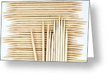 Stored Wooden Toothpicks Greeting Card
