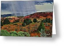 Storm Approaching The Ridge Greeting Card
