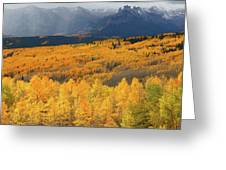 Storm At Ohio Pass During Autumn Greeting Card