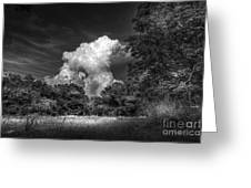 Storm Beyond The Meadow Greeting Card