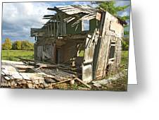 Storm Blown House-1 Greeting Card