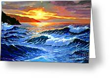 Storm Clouds - Catalina Island Greeting Card