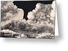 Storm Clouds 1 Greeting Card by Elizabeth Lane