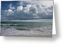 Storm Clouds Above The Atlantic Ocean Greeting Card