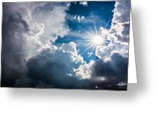 Storm Clouds Greeting Card by Adnan Bhatti