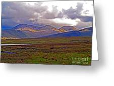 Storm Clouds Ahead In Connemara Greeting Card
