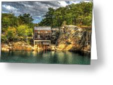 Storm Clouds Cross The Quarry At High Noon Greeting Card