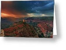 Storm Clouds North Rim Grand Canyon Arizona Greeting Card by Dave Welling
