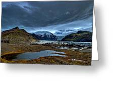 Storm Clouds Over A Glacier - Iceland Greeting Card
