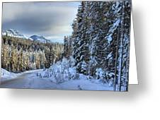 Storm Clouds Over Bow Valley Parkway Greeting Card