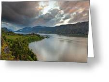 Storm Clouds Over Hood River Greeting Card
