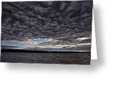 Storm Clouds Over Long Lake Greeting Card