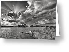 Storm Clouds Over Oriental Greeting Card