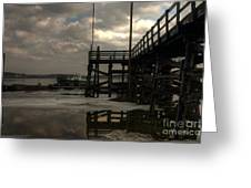 Storm Clouds Over Pine Point Greeting Card