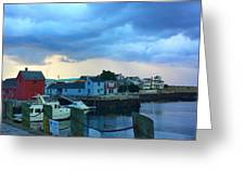 Storm Clouds Over Rockport Harbor Greeting Card