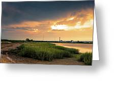 Storm Clouds Over Stratford Greeting Card