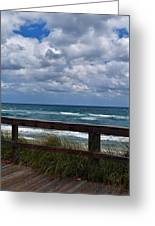 Storm Clouds Over The Beach Greeting Card