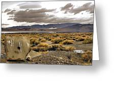 Storm Clouds Over The Desert Greeting Card