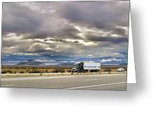 Storm Clouds Over The Highway Greeting Card