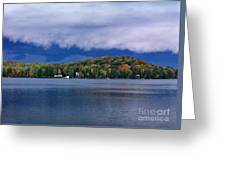 Storm Clouds Over The Lake Of Bays Greeting Card