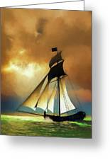 Storm Comes Greeting Card