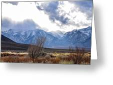 Storm Descending From The Sierras Greeting Card