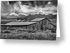 Storm In B And W Greeting Card