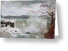 Storm In Niagara Falls  Greeting Card