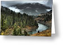 Storm In Snake River Canyon Greeting Card