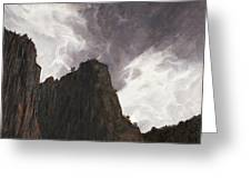 Storm In The Canyon Greeting Card