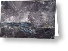 Storm In The Skerries. The Flying Dutchman Greeting Card