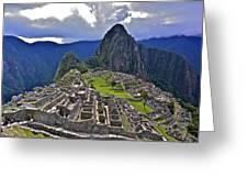 Storm Inbound To Machu Picchu Greeting Card