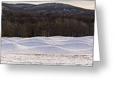 Storm King Wavefield In Snowy Dress Greeting Card