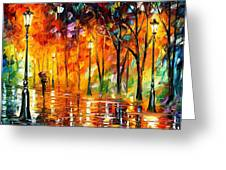 Storm Of Emotions - Palette Knife Oil Painting On Canvas By Leonid Afremov Greeting Card