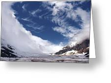 Storm On A Glacier Greeting Card