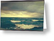 Storm On The Bay Greeting Card