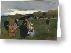 Storm On The Bois De Boulogne Greeting Card
