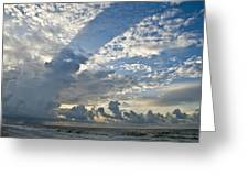 Storm On The Gulf Greeting Card