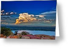 Storm On The Horizon Greeting Card