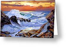 Storm On The Irish Coast Greeting Card