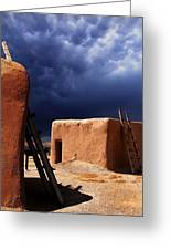 Storm On The Mesa Greeting Card
